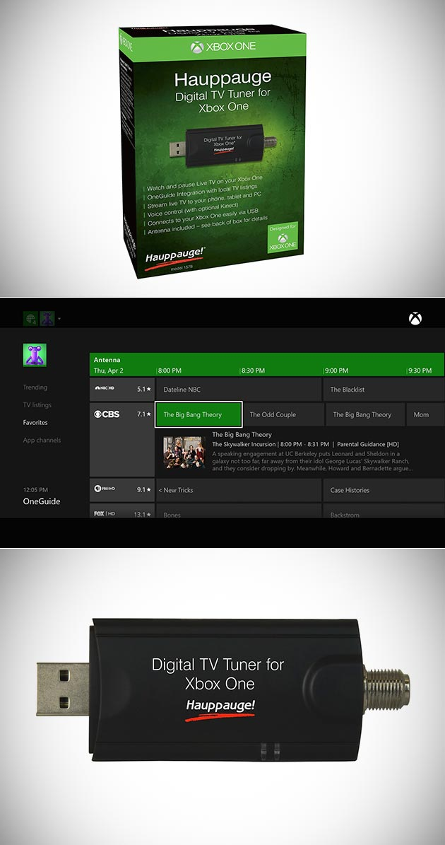 Hauppauge Xbox One Digital TV Tuner Lets You Stream Live Around Your Home Get One for Under 50