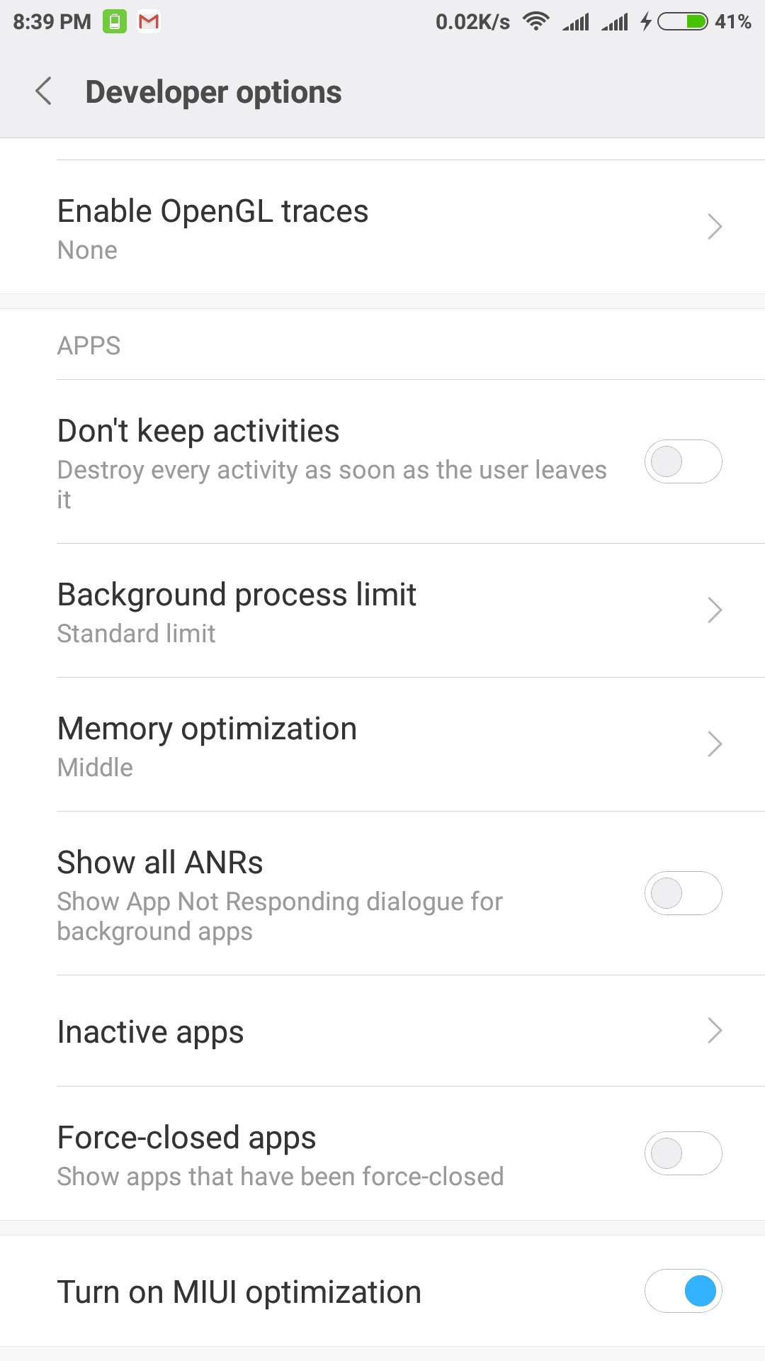 Turn On MIUI Optimization In Developer Options: Side Effects - Technicles