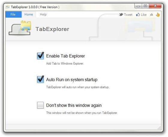 TabExplorer_Mainscreen