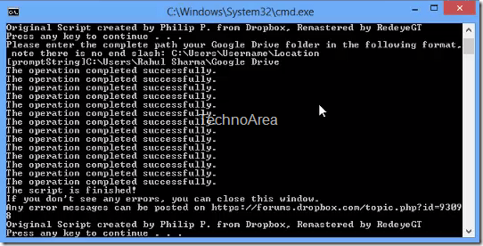 MS_Office_2013_Google_Drive_Script_Successfull