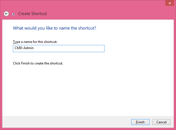 Command Prompt Create_Shortcut_Name