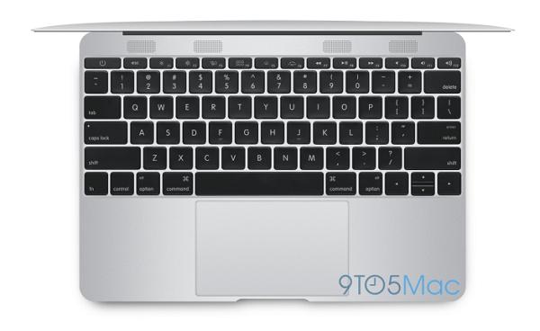 Apple MacBook Air 12 Inch Render Keyboard