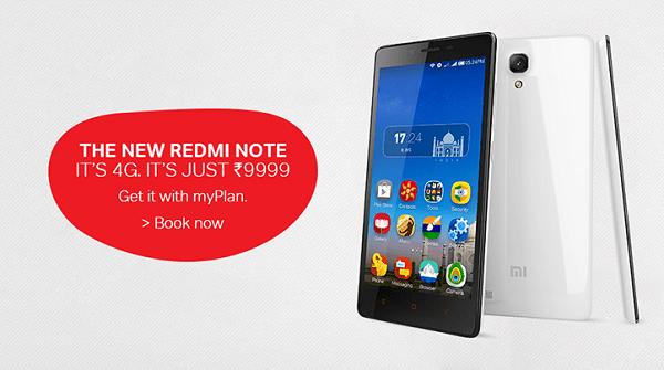 Xiaomi Redmi Note Airtel