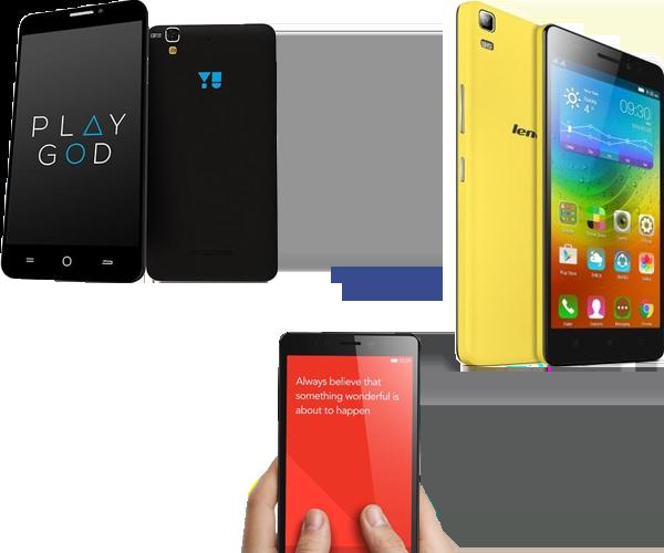 Lenovo A7000 vs Xiaomi Redmi Note 4G vs YU Yurka