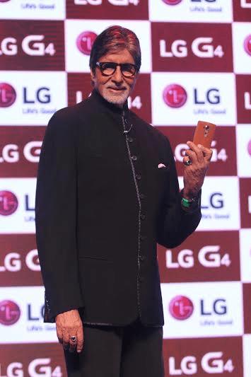 Amitabh Bachchan LG G4 Launch