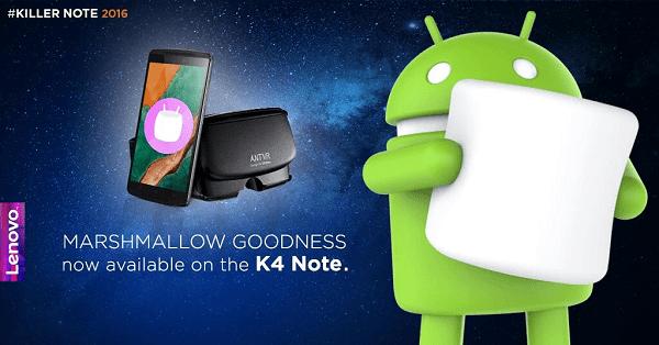 Lenovo K4 Note Update