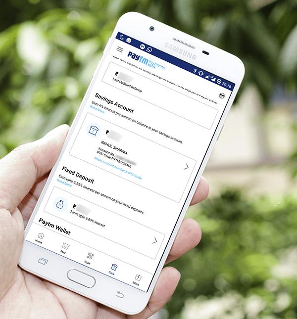 PayTM Bank Details
