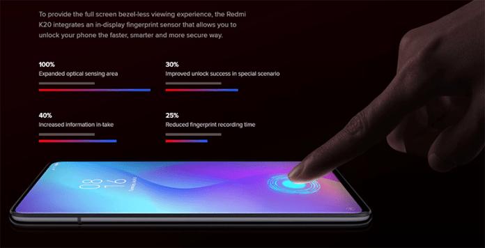 Redmi In Display Fingerprint