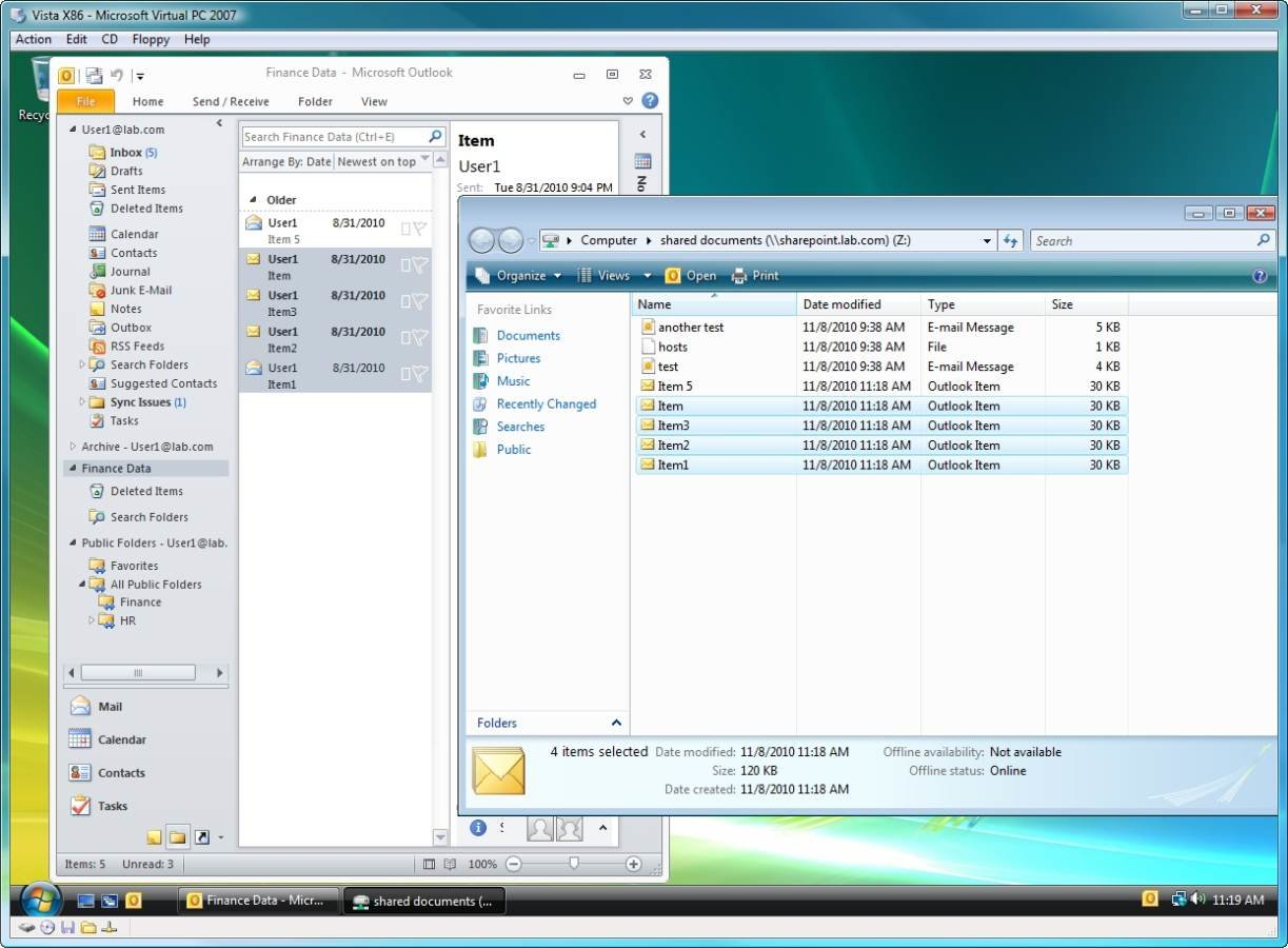 Your .pst file has remained intact after migration
