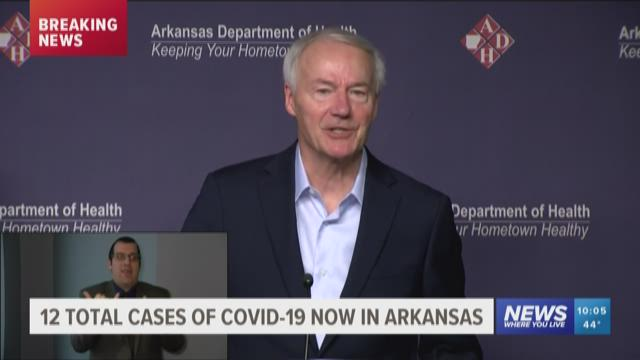 12 total cases of presumptive coronavirus cases in Arkansas ...