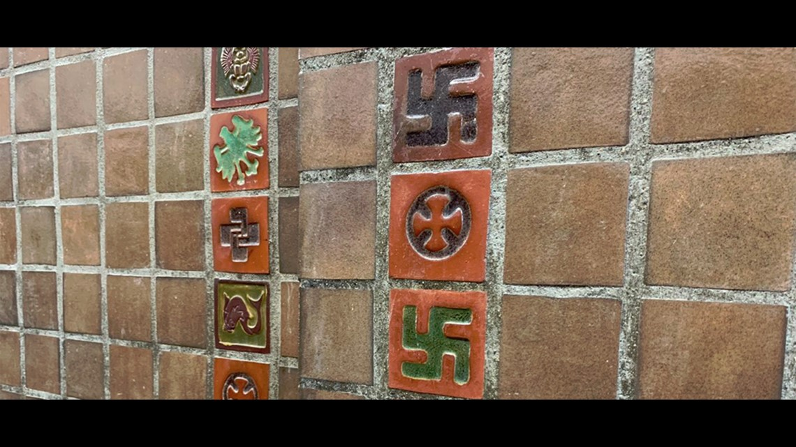 swastika tiles removed from indiana