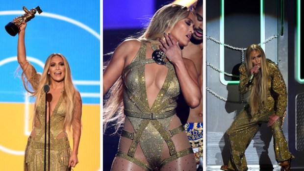 J. Lo enciende el escenario de los premios MTV y recibe premio a la vanguardia