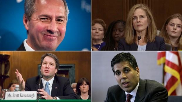 Lista de probables nominados por Trump para la corte suprema
