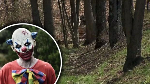 """El """"payaso del bosque"""", buscan a misteriosa figura que atacó a joven"""