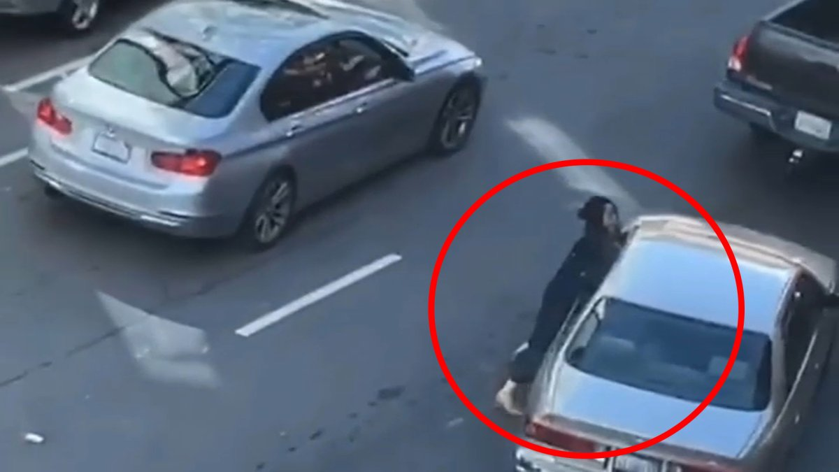 Video captures woman being dragged by car during violent robbery in California