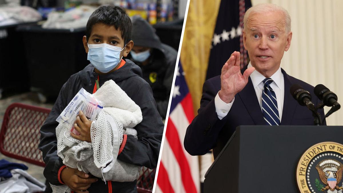 "Biden acknowledges that there is a ""crisis"" at the border due to the rebound of minors crossing alone"