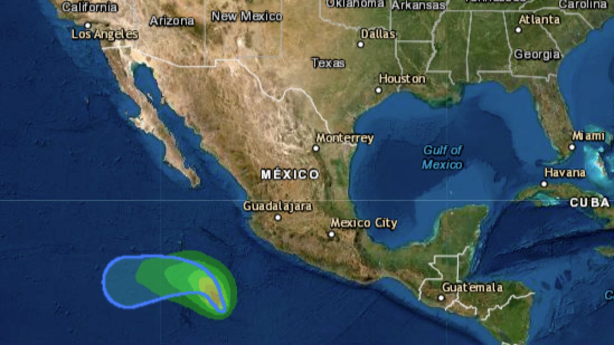 Andrés forms, the first tropical storm of the season in the Pacific