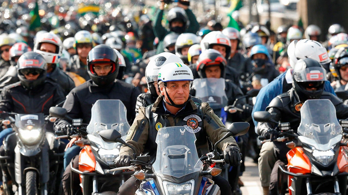 Bolsonaro, the president of Brazil, fined for not wearing a mask during a motorcyclist rally