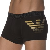 Boxer Xmas Eagle Stretch Cotton Noir Emporio Armani