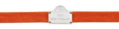 Bracelet orange Rue Montorgeuil