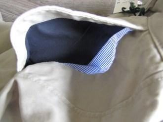 détail doublure poche avant chino Bexley