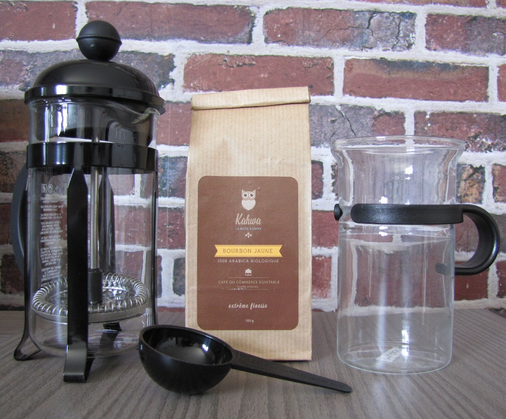kahwa box et ma cafetière french press