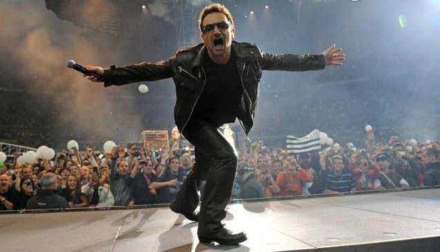 bono et U2 en concert