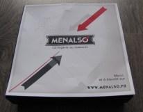 coffret Menalso et son flyer promotionnel