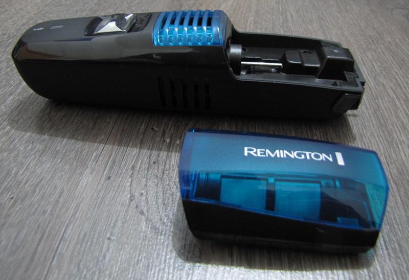gros plan tondeuse remington et son vacuum