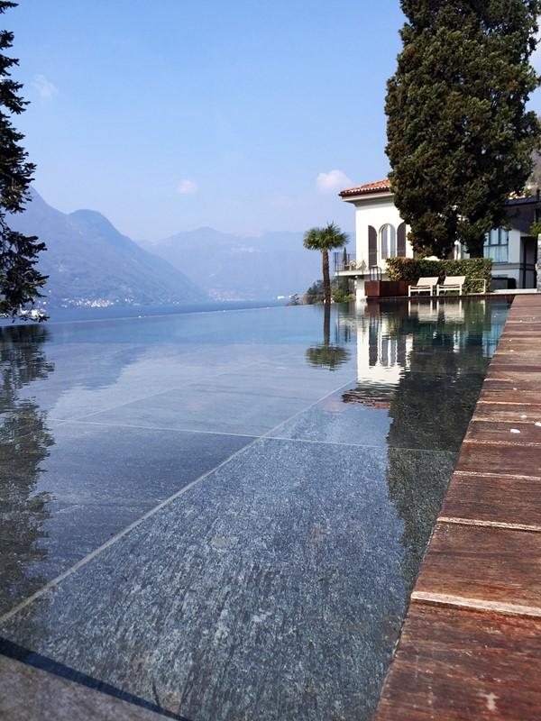 piscine debordement villa lario lac de come