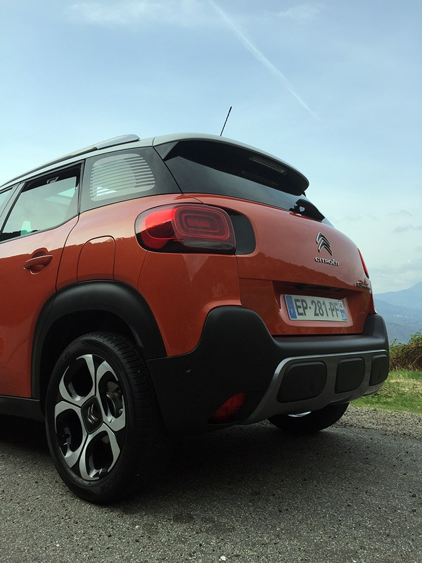 C3 aircross vue arriere