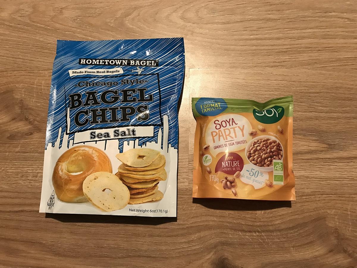 degustabox bagel chips soya party