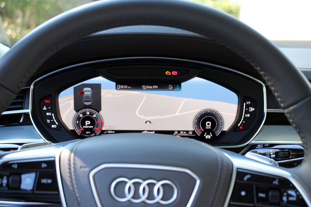 Audi A8 virtual cockpit
