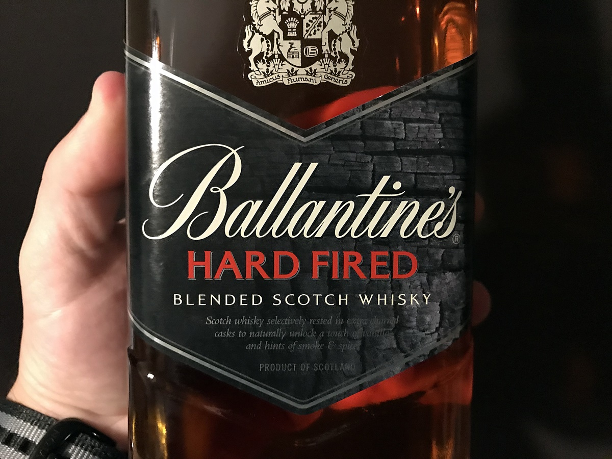 Ballantine's Hard Fired etiquette