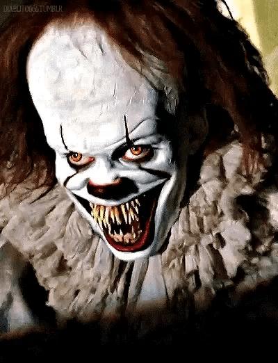 scary clown gifs tenor