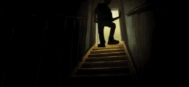 Basement Down Stairs Gif Basement Stairs Downstairs Discover | Stairs Down To Basement | Ranch House | Animated | Outside | Creepy | Funny