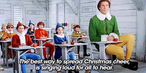 elf singing loud for