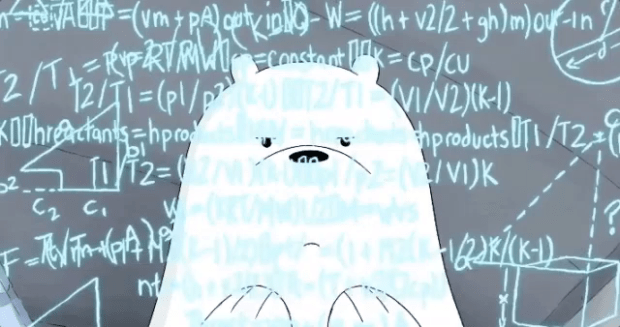 Image result for ice bear we bare bears doing math