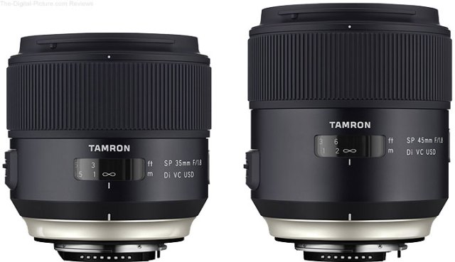 Tamron 35 & 45mm f/1.8 VCs Win Red Dot & IF Design Awards