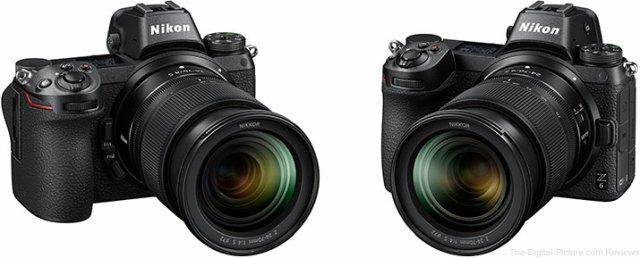 Nikon Z 7 and Z 6 Mirrorless Cameras