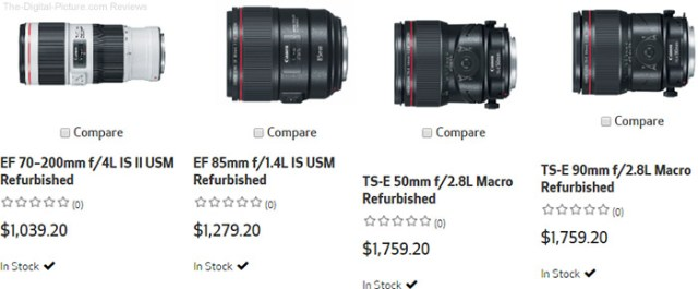 Refurbished Canon Lenses