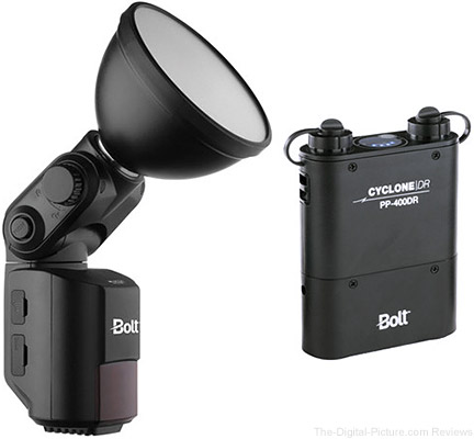 Bolt VB-22 Bare-Bulb Flash Kit with Cyclone PP-400DR Power Pack - $  399.95 Shipped (Reg. $  784.95)