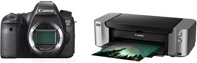 Canon EOS 6D + PIXMA PRO-100 Bundle – $  1,099.00 AR