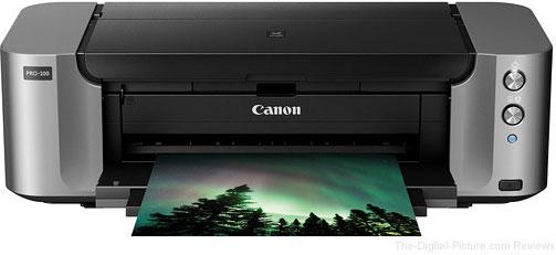 Canon PIXMA PRO-100 Professional Inkjet Photo Printer