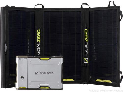 GOAL ZERO Sherpa 100 Solar Charging Kit with 110VAC Inverter