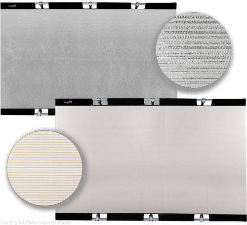 "Impact Panel Frame Reflector Kit - Zebra Gold / Zebra Silver (59 x 82"")"