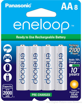 Panasonic BK-3MCCA8BA Eneloop AA 2100 Cycle Ni-MH Pre-Charged Rechargeable Batteries (Pack of 8) - $  15.74 (Compare at $  17.84)