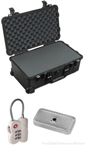Pelican 1510 Case with Foam Set, TSA Lock, Desiccant Gel