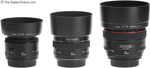 Canon 50mm f1.8, f1.4, f1.2