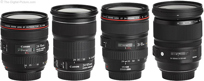 Canon EF 24-105mm f/3.5-5.6 IS STM Lens Compared to Similar Lenses